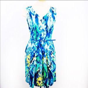 Ellen Tracy Sleeveless Fit & Flare Dress